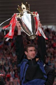 Cantona lifts 96 title trophy
